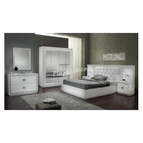 chambre à coucher pas cher chambre à coucher complete model kristel blanc achat