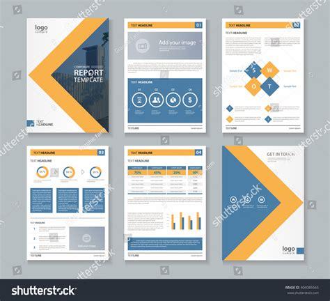 report template design company profile annual report brochure fl stock vector 404085565