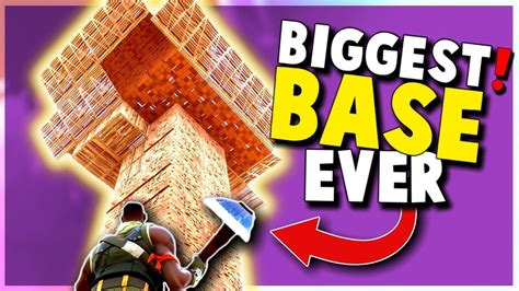 Biggest Base Ever Built! (fortnite Battle Royale Duos And