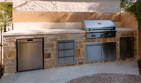 limestone outdoor kitchen ember outdoor kitchens austin tx