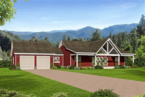 2-bed Country Ranch Home Plan With Walkout Basement