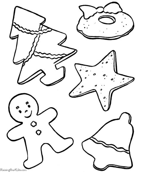 Free coloring pages of cookies