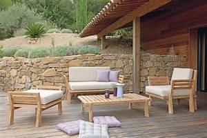 Canape De Jardin Bois : meuble de jardin en bois royal sofa id e de canap et ~ Premium-room.com Idées de Décoration