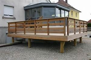 Garde Corps Terrasse Bois : garde corp bois pour terrasse ~ Dailycaller-alerts.com Idées de Décoration