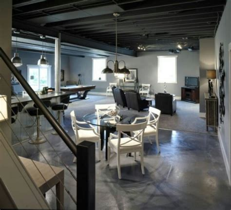 Exposed Basement Ceiling Ideas by Basement Ideas The Exposed Ceiling And The Painted