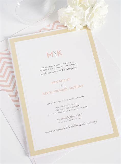 modern wedding invitations  blush  gold wedding