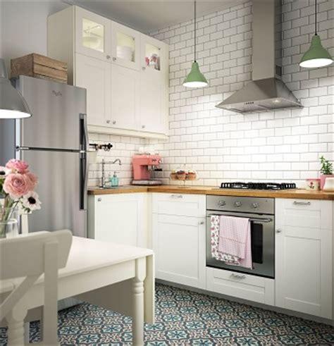 ot de cuisine ikea cuisine ikea au style rétro avec carrelage métro
