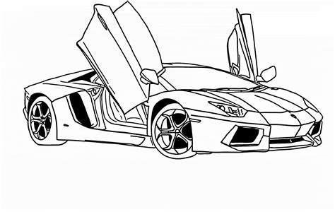 Kleurplaat Lamborghini Urus by Cool Black And White Line Die Ausmalbilder Sind Ein