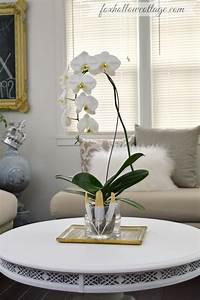 Mantel Decor and How To DIY an Orchid Flower Vase - Fox