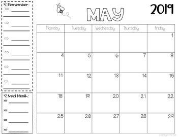 monthly printable calendars   horizontal