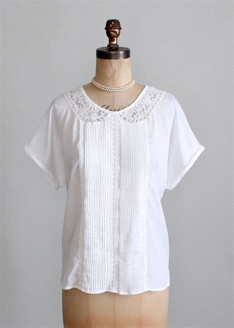 lace collar blouse vintage 1980s lace collar slouch blouse raleigh vintage