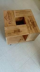Table Basse Caisse Bois : table basse avec caisse de vin faite maison d co pinterest ~ Nature-et-papiers.com Idées de Décoration