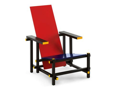 Europa Design, Poltrona Red And Blue, G.t. Rietveld,1919
