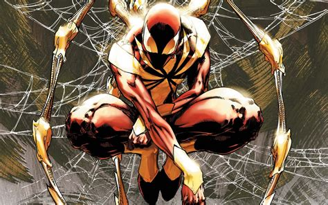Iron Spider Background by Civil War Iron Spider Wallpaper Marvel