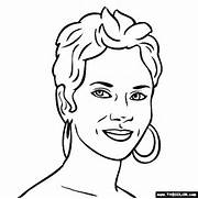 halle berry colouring pages