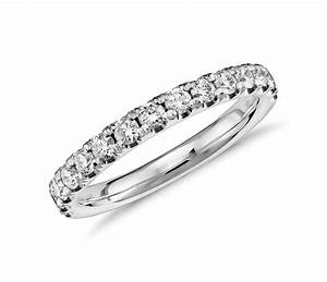 Scalloped Pav Diamond Ring In Platinum 12 Ct Tw
