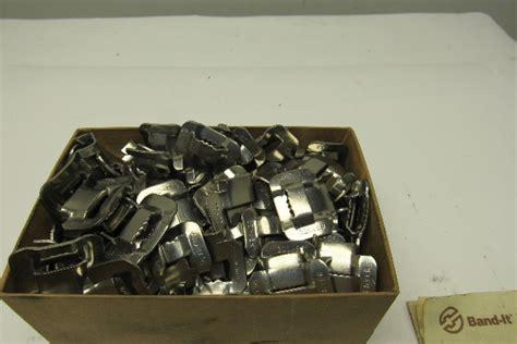 band   edp   stainless steel banding buckles lot   bullseye industrial sales