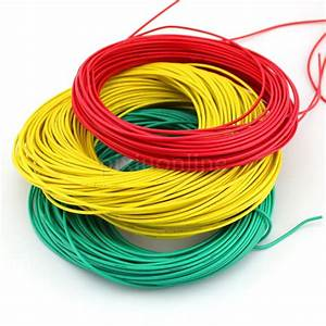 1meter  Pack J355 Diameter 2mm Multi Color Conductor Model Thin Electric Wire 450  750v Copper
