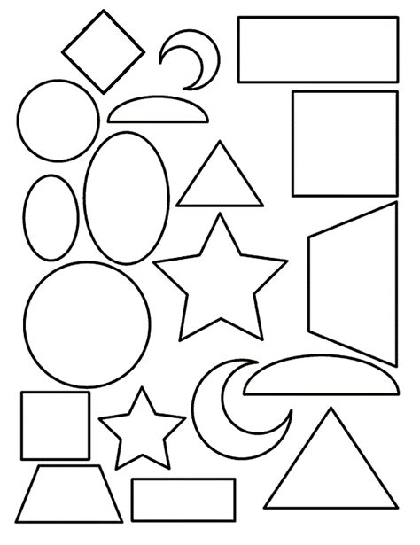 shape coloring pages  toddlers coloring home