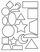 Coloring Pages Shape Toddlers Rectangle Popular sketch template