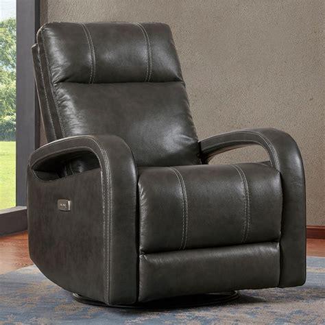 kuka grey leather power recliner chair  swivel glide