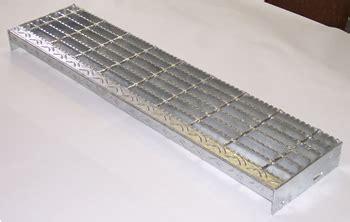 Serrated Bar Grating Stair Treads, Galvanized Treads