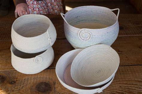 flowers bowls sewing basics rope basket bowl