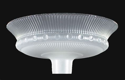 torchiere l shade 15 1 2 etched rib and clear top torchiere 09014 b p l
