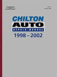 Chilton U0026 39 S Auto Repair Manual  1998-2002