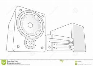Mini Hifi Vector Illustration Stock Vector - Image: 1848401