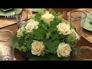 Art Floral Centre De Table Noel : art floral un centre de table rond jardinerie truffaut tv youtube ~ Melissatoandfro.com Idées de Décoration
