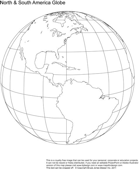 earth outline globe and south america blank map