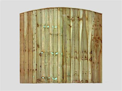 traditional garden fence panels curved feather edge vertical tanalized green panels pennine