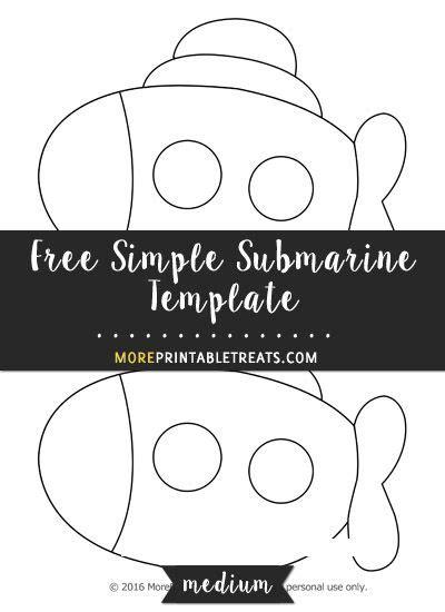 simple submarine template medium shapes