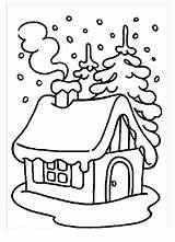 Coloring Snow Pages Winter Monster Covered Christmas Snowy Printable During Zum Clipart Houses Malvorlagen Sheets Season Ausmalen Ausdrucken Colouring Kidsplaycolor sketch template