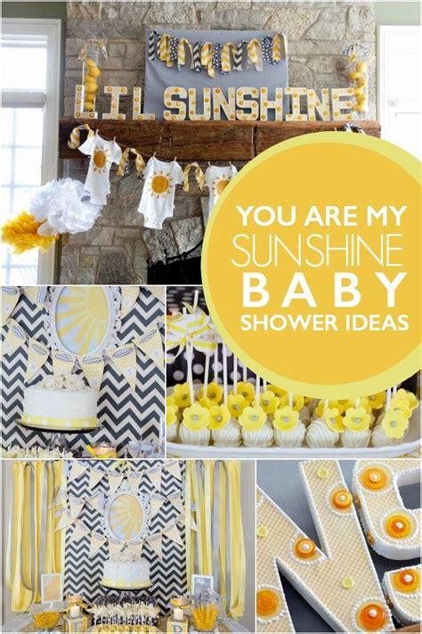 sunshine gender neutral baby shower baby
