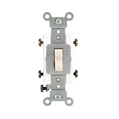leviton 20 double pole toggle switch light almond r56