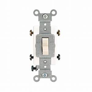 Leviton 20 Amp Double-pole Toggle Switch  Light Almond-r56-0csb2-2ts