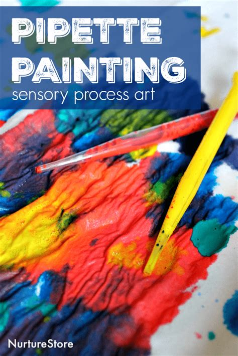 fun process art painting  pipettes nurturestore