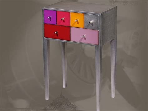 meuble d appoint 2 tiroirs personnalisable kolors 171 raphaele