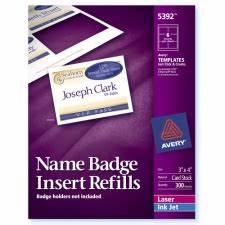 avery 5392 avery plain insert badge refills in stock at With avery name badge inserts 5392