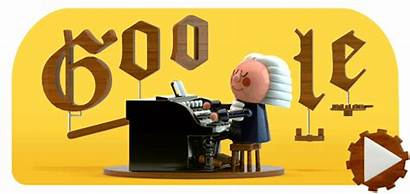 Google Bach Doodle Sebastian Doodles Birthday Celebrating
