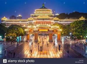Chongqing, China at Great Hall of the People and People's ...