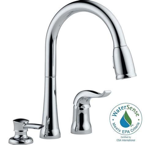 delta single handle kitchen faucet delta kate single handle pull kitchen faucet with