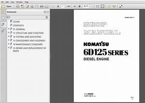 Komatsu 6d125 Series Diesel Engine Service Repair Manual  Sebe61500110  Komatsu 6d125