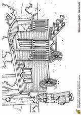 Coloriage Maison Monde Caravane Tzigane Roulotte Colorier Une Dessin Coloriages Maisons Gypsy Hugolescargot Gitane Coloring Traditionnelle Pres Imprimer Dessins Visiter sketch template