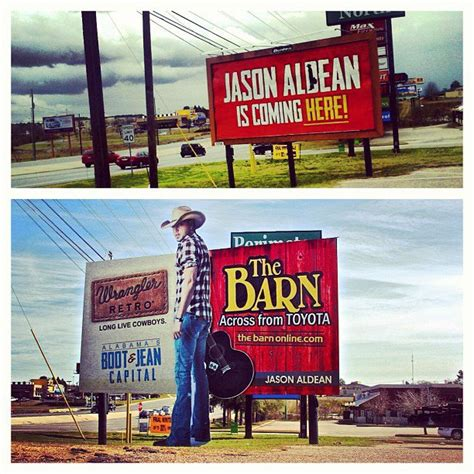 Jason Aldean Barn by Durden Outdoor Displays Large Jason Aldean Teaser