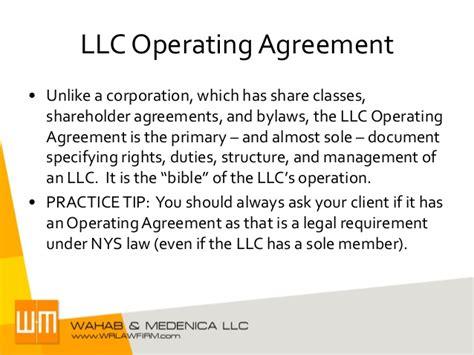 Agreement Operating Sole Member Llc