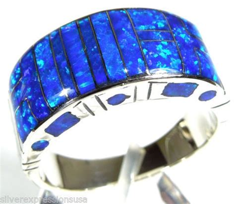 details   ford mustang fire opals men rings