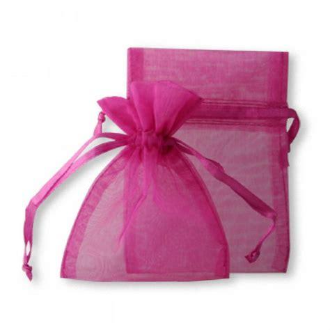 sheer organza favor bags fuchsia hot pink